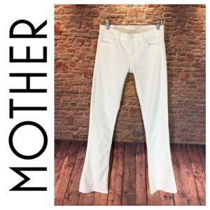 ☮️MOTHER The Runaway Sleeping Beauty white pant